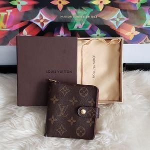 💯 Louis Vuitton Compact Zip Unisex Wallet